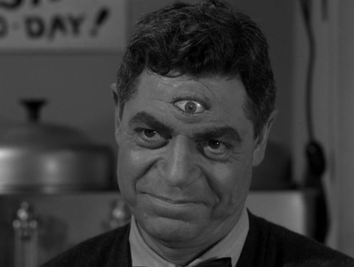 "blueruins:   The Grim Gallery: The Twilight Zone episode ""Will the Real Martian Please Stand Up?"" (1961)"