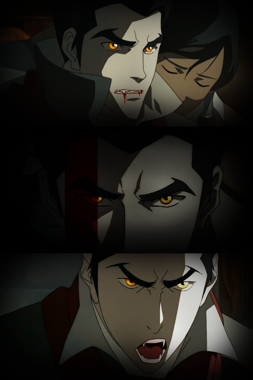 fuckyeahavatarshipping:  makorrasex:  mrspettyferr:   Vampire!Makorra AU  Because why not.  I have to admit this is pretty hot  this is so hot i'm reblogging twice