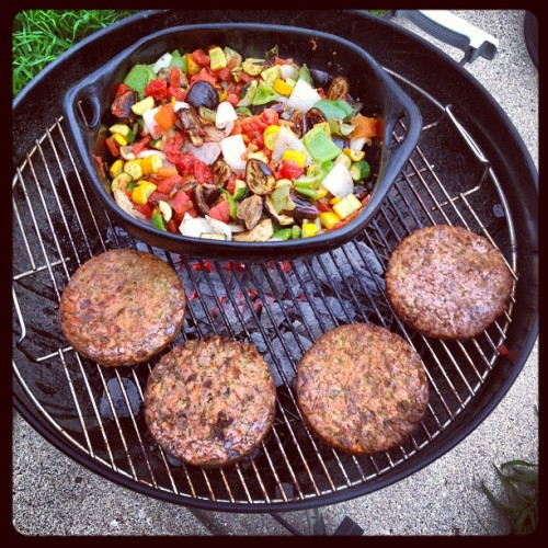 #grilled #ratatouille and #veggie #burgers  (Taken with Instagram at Midwest Vaygun Kitchen)