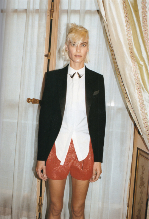 dustulator:  Delfine Bafort shot by Juergen Teller backstage at Balenciaga SS 2011