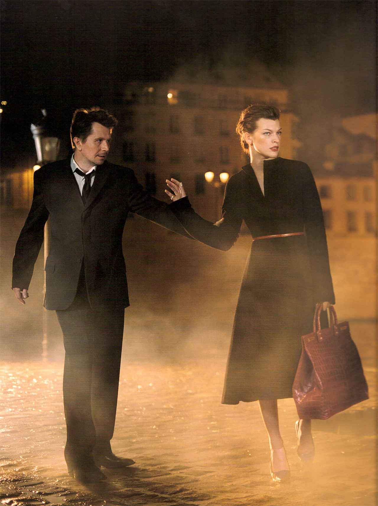 Milla Jovovich and Gary Oldman photographed by Mikael Jansson for Donna Karan New York, Autumn 2000