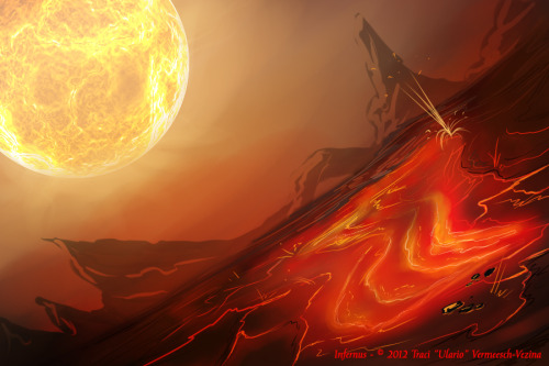 Planet Infernus in the Angetha system.  Named so because it's surface is akin to the seventh level of hell. The Red Circle cult believes that hell is literally located on this planet.