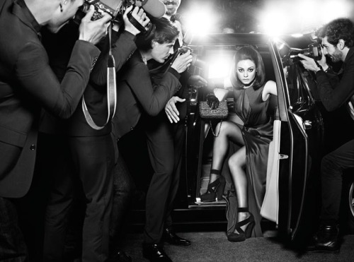 Mila Kunis Is in the Spotlight for the Miss Dior Handbag Fall 2012 Campaign by Mario Sorrenti http://bit.ly/P6yKuj