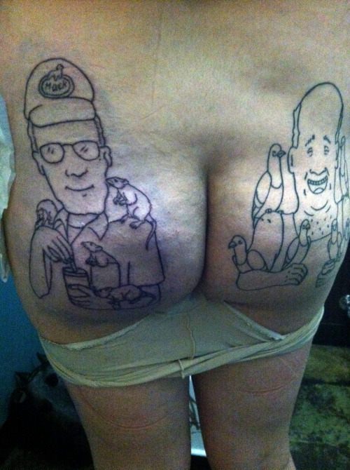 danggit-bobby:  intergalacticspaceparty:  ♡ this is my butt ♡ dale gribble done by john w. wilson at scapegoat portland, or.  this is the most god dang beautiful thing I have ever seen