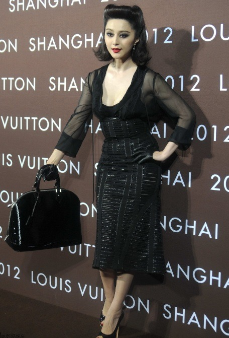 Fan Bing Bing in nothing but Louis Vuitton