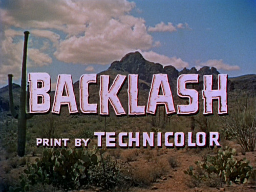 (via Backlash (1956) Richard Widmark Donna Reed | Opening credits)
