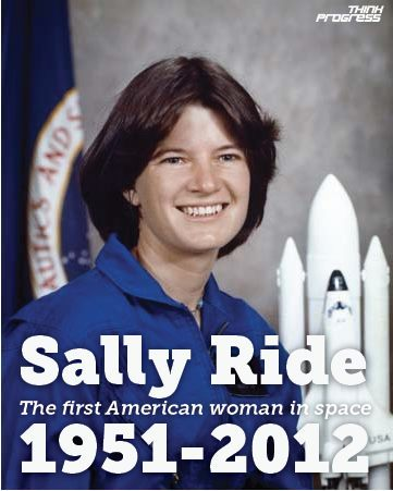 RIP Sally Ride, the first American woman in space.