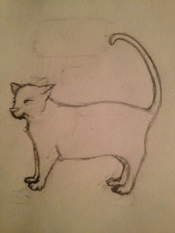my cat, Cleo. usually when I try drawing cats, they end up horses.