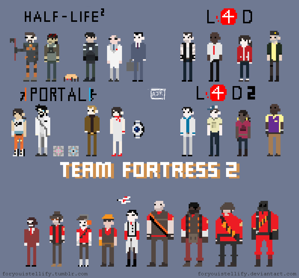 it8bit:  Valve In Pixels  Created by foryouistellify deviantART || Tumblr