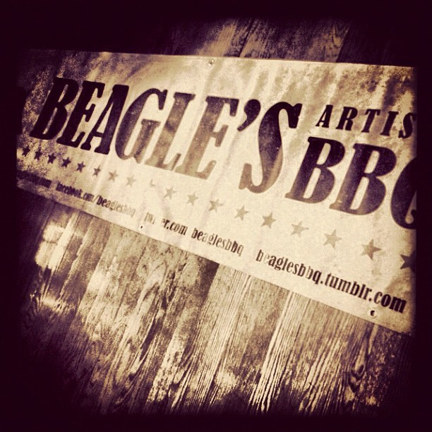 @beaglesbbq new sign  (Taken with Instagram at Beagle's BBQ)