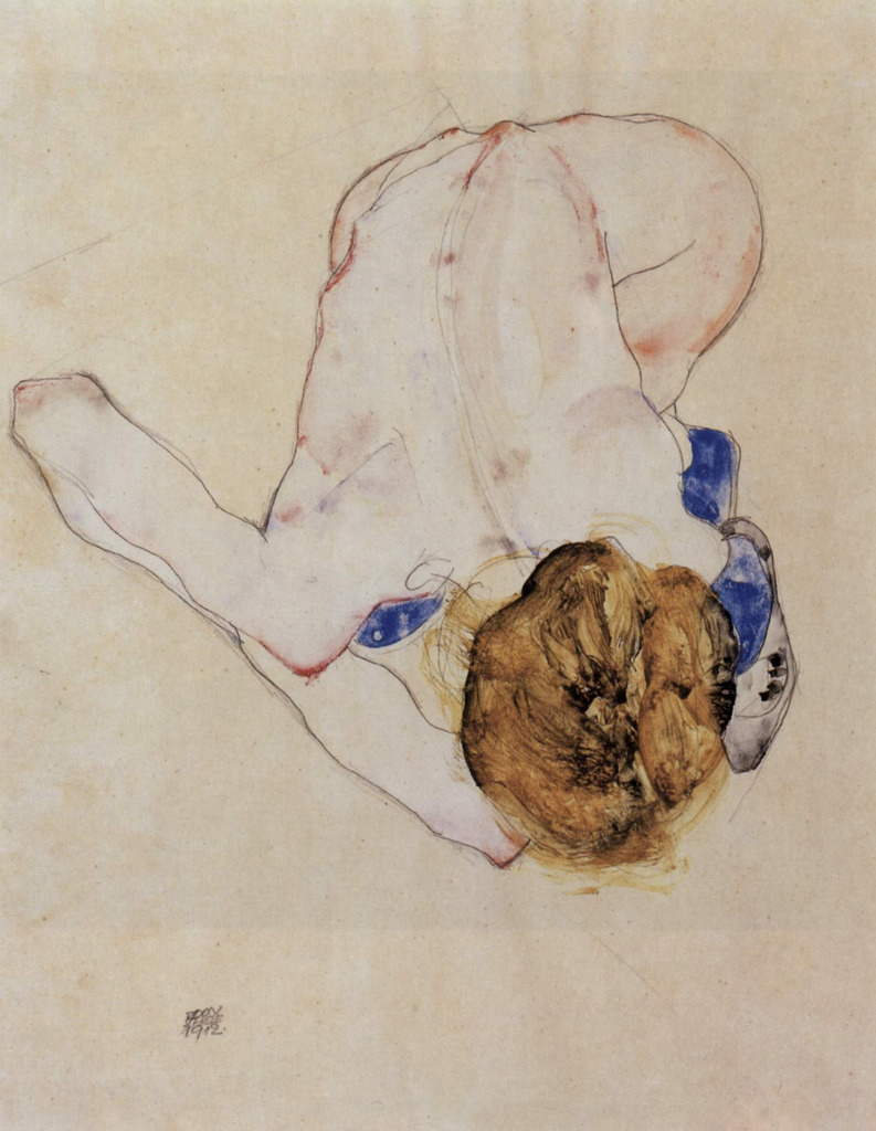 Egon SchieleWoman's Back, 1912 Pencil and watercolor on paper