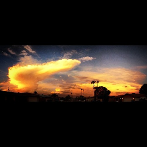 #clouds #color #blue #orange #red (Taken with Instagram at Cave of Phoenix)
