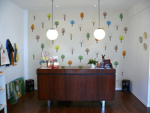 handpainted trees by decor8 on Flickr.