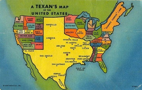 Map according to Texans