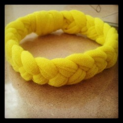 Pretty neon yellow fabric bracelet =)  (Taken with Instagram)