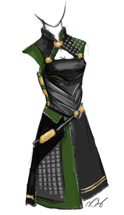 forevercreating:  A quick design for a possible Lady Loki. It's just been in my head all day. If only my sewing skills were great enough to make it…