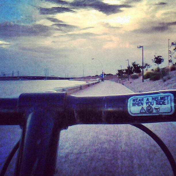 Evening #bike ride on #TempeTownLake in #Tempe #Arizona #monsoon (Taken with Instagram)