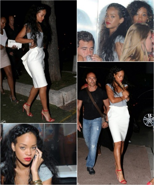 Rihanna's night out in Saint-Tropez View Postshared via WordPress.com
