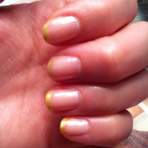 Gold tipped #nails 💅 (Taken with Instagram)