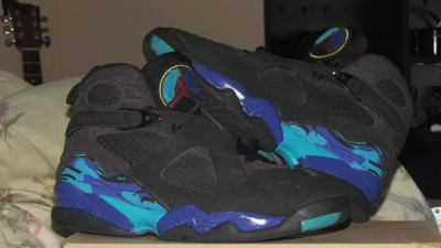 Repainted and Reglossed my Jordan Aqua 8's. :)