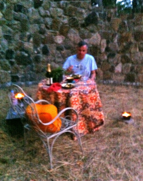 Dinner in the field…