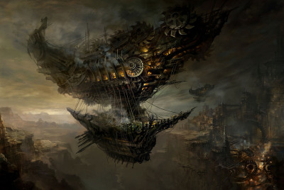 Airship by Chang Yuan - 常 远 (holy moly.)