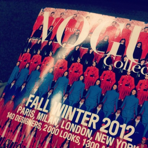 New #Vogue Collections… Makes me very happy! #fashion #voguecollections #magazine #fashionmagazine #makesmesmile #love #lust #style #runway #designer (Taken with Instagram)