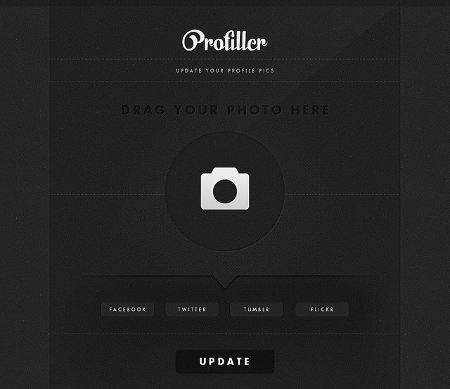 ProFiller on Flickr.Not sure if this exists but I want an app that lets me update my various profile pics at once.tumblr | website | twitter