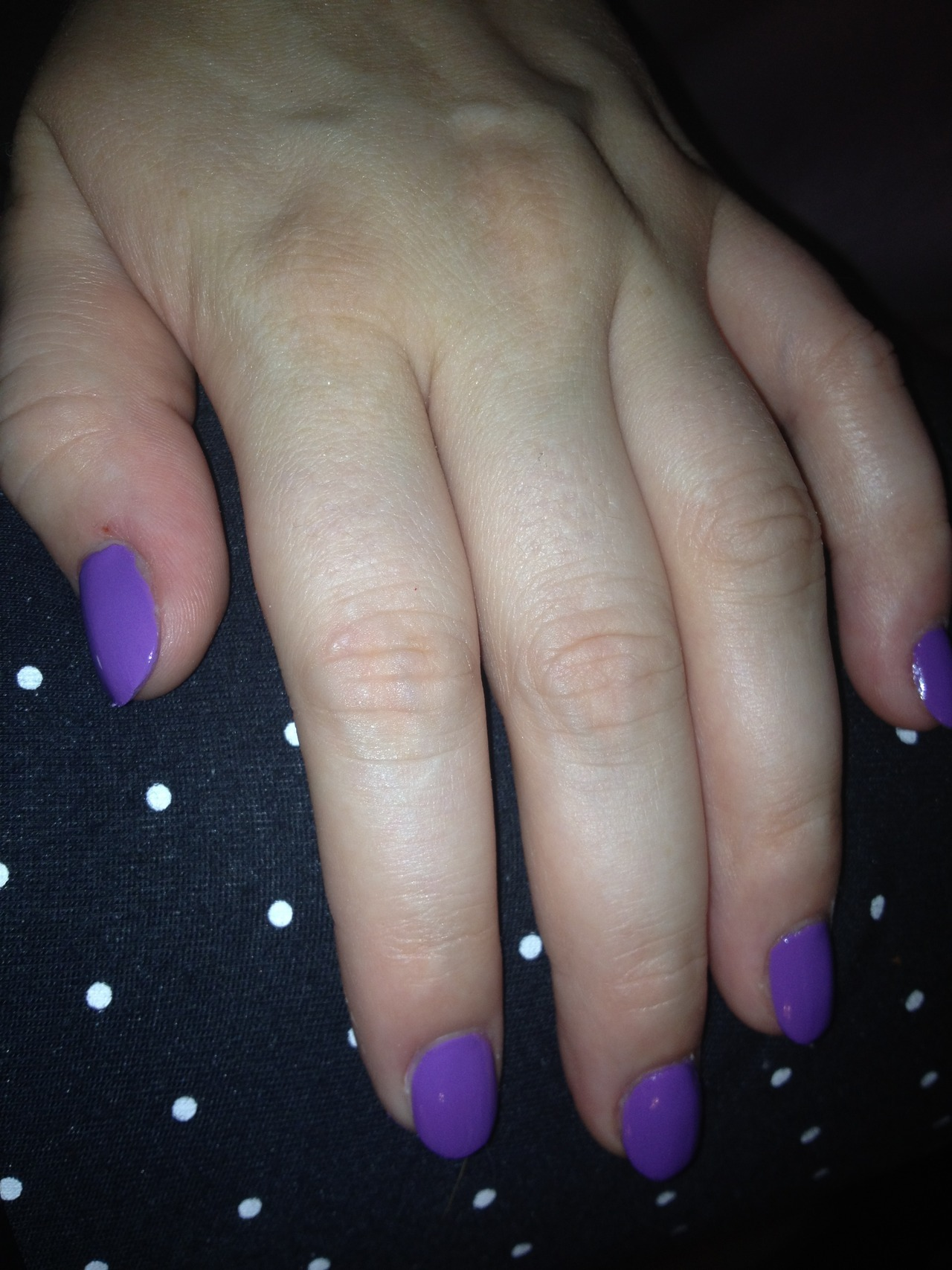 "Purple today. Rimmel's ""Wild Orchid"""