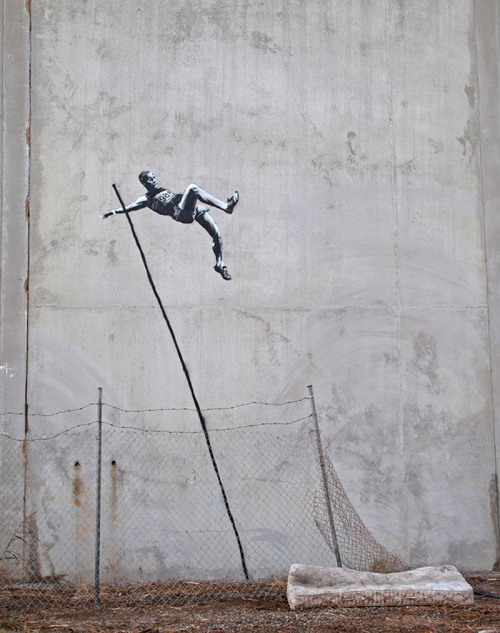 menofhabit:  banksy does olympics