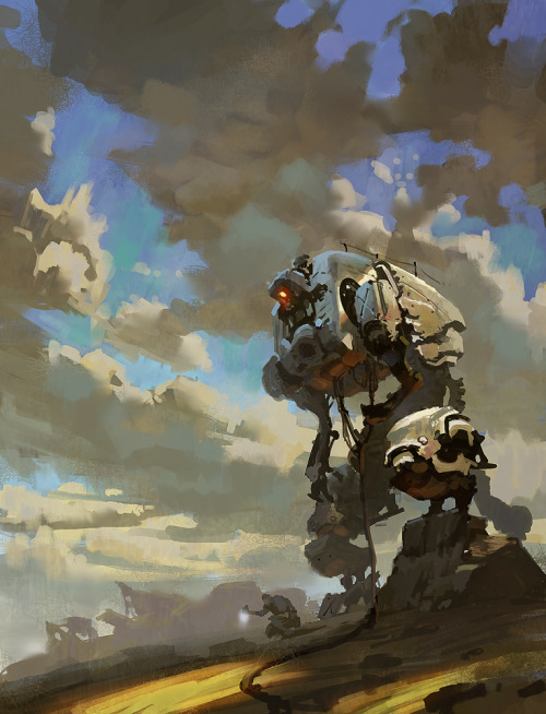 motherfuckinscifi:  Mech by 0BO