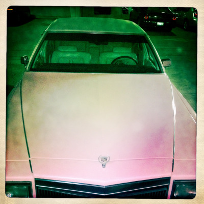 We signed a pink Cadillac in  Iowa.