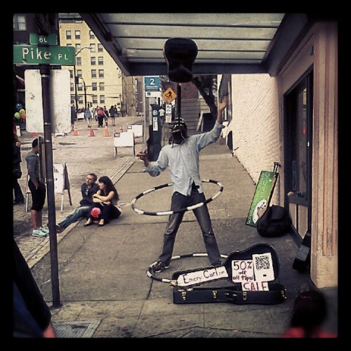 Pike place entertainer! (Taken with Instagram)