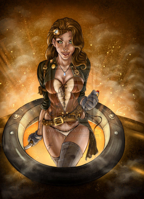 steampunkmaverick:  Steampunk Girl by *VinRoc