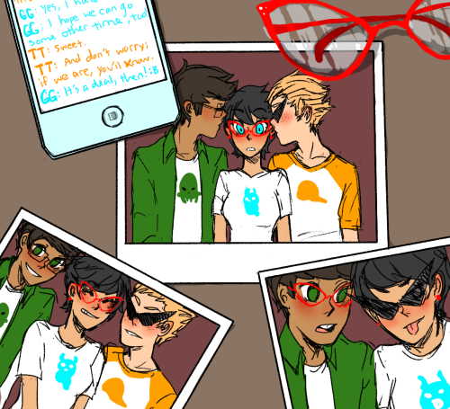 dirkjakesoup:   Jake and Dirk, boyfriends, but best friends first. Your best friends.  [full size] «click it because it looks better when its larger ok pls i drew this for taylor who wrote this wonderful fic and i just wow i just love it when everyones happy even if dirk and jake get together ok pls its all i need