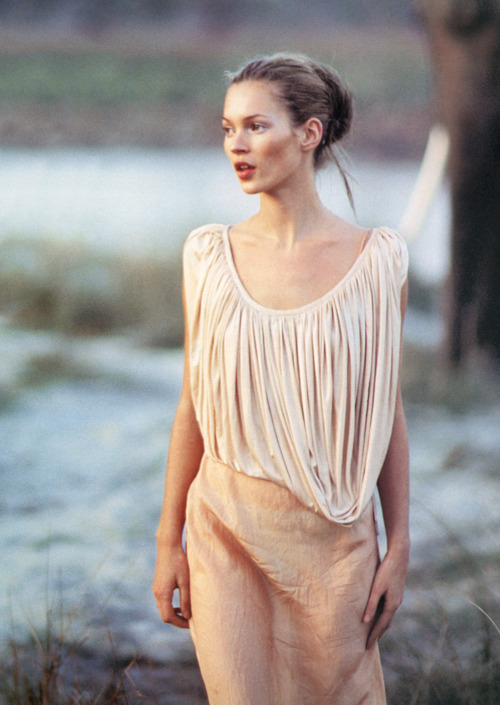[Kate Moss by Arthur Elgort for Vogue UK March 1994]