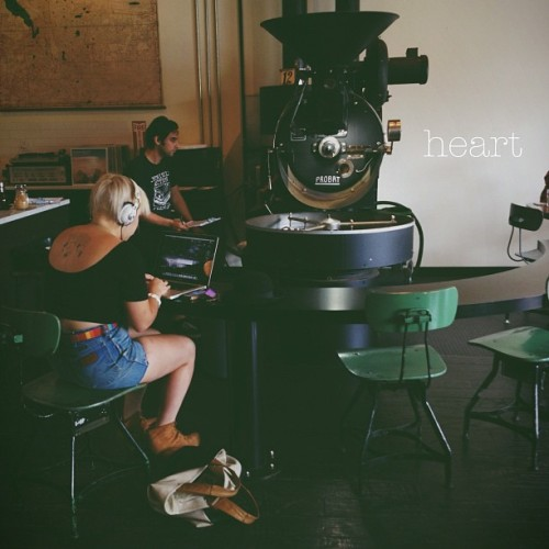 @stevenberbec and I visited @heartroasters in Portland for the first time today before heading back to Seattle. Can't wait to french press their Ethiopia Yukro in the morning.  (Taken with Instagram)