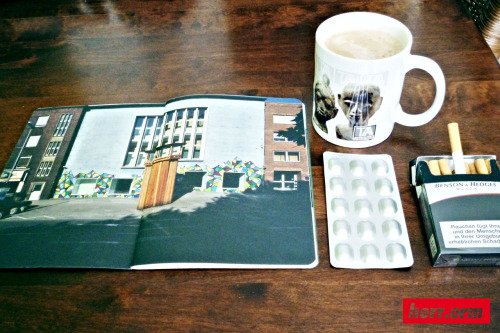 WHATS NEW? 1) my Graffiti in Kawamata catalogue 2) Tribal Art Apartment Coffee Cup 3) new medicine 4) Benson & Hedges instead of L & M