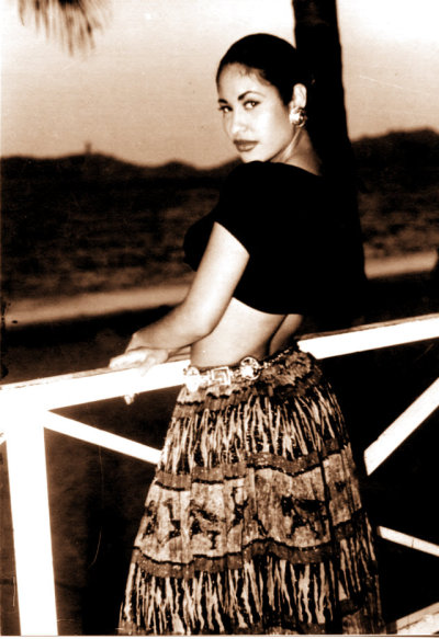 Selena Quintanilla in Acapulco, Mexico in 1994