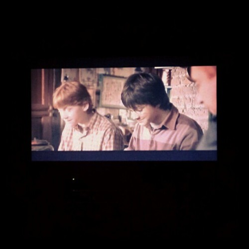 """Harry Potter. Are you really?""  #bedtimestory  (Taken with Instagram)"