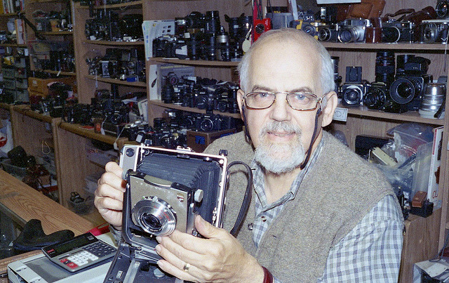 chrisvanderwees:  Tom Steiner on Flickr. Via Flickr: Camera Trading Company. 368 Bank Street. Ottawa, ON. Summer 2012. Canon Canonet GIII QL17. Kodak Gold 400 (expired).Epson V500.  This is such an amazing shop, full of lovely old cameras!