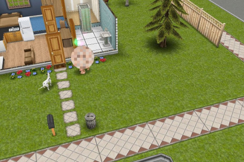 My Klaine sims were just kinda doing it in the front yard…