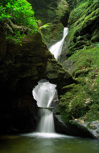 chasingthegreenfaerie:  St. Nectan's Glen Waterfalls, Cornwall, UK | A magical, mystical and sacred place (1 of 10) by ukgardenphotos on Flickr.