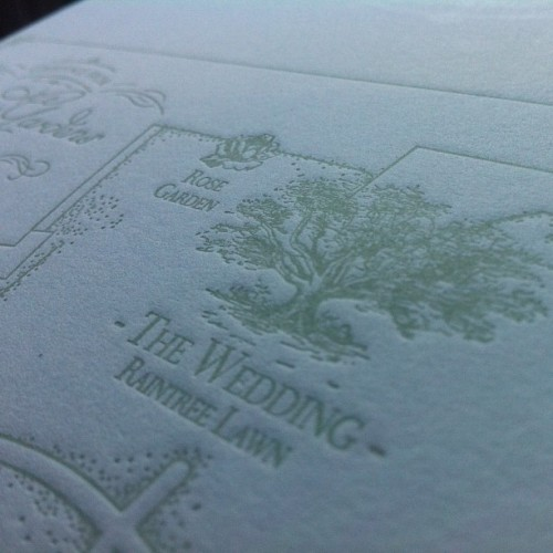 #letterpress #wedding #invitations #map #inprogress (Taken with Instagram)