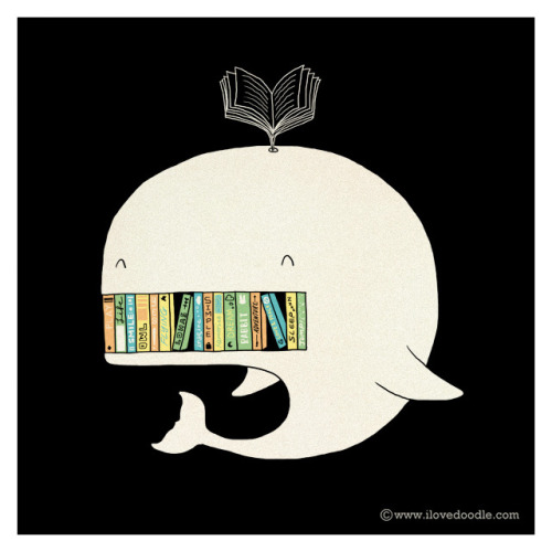 ilovedoodle:  My Bookshelf on Flickr. Doodle Everyday 321Website / Facebook / Twitter / Tumblr / Etsy