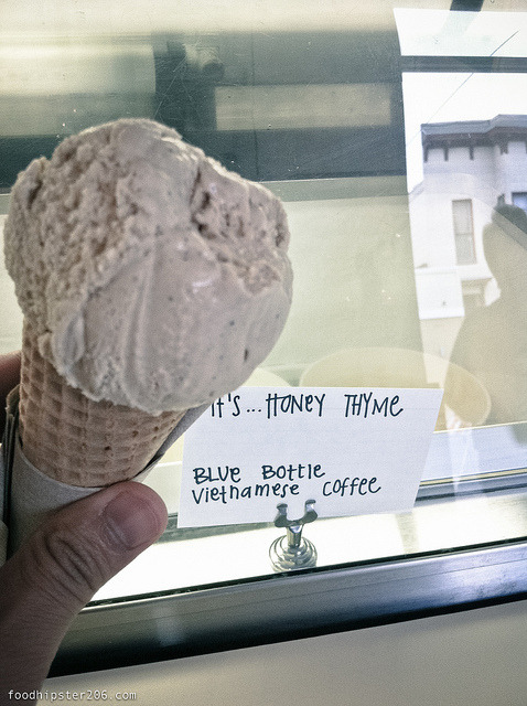 Per Alan Richman of GQ, Humphry Slocombe is one of America's best Ice Cream shops. The foodhipster206 totally agrees and the flavor of choice is the Vietnamese Blue Bottle coffee. Yay for the Bay to be home to two of America's best ice creameries.
