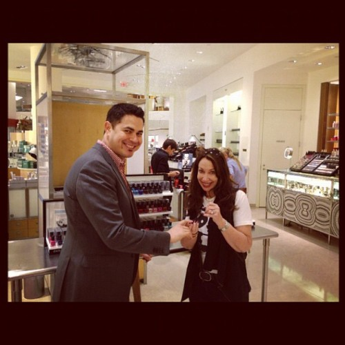 Joe @barneysny Las Vegas having a brave mani moment! (Taken with Instagram)