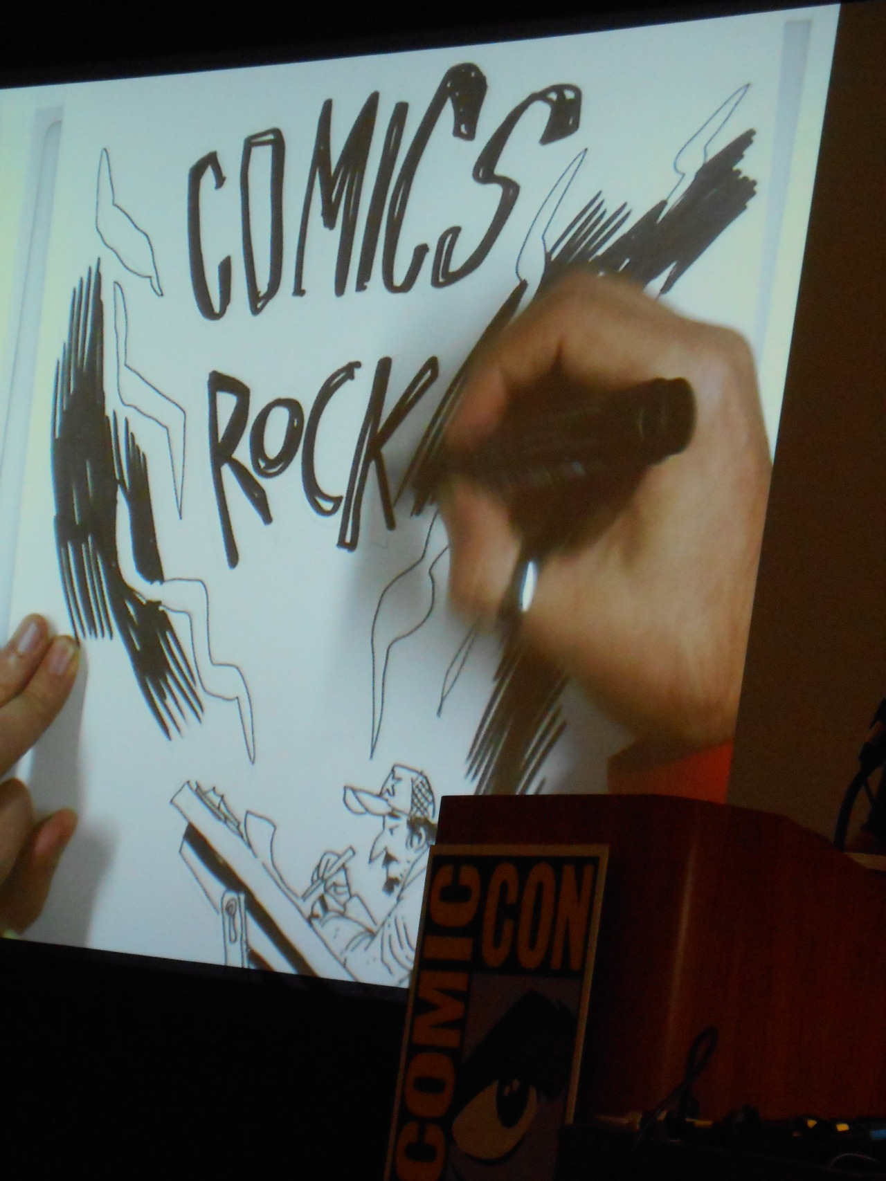 San Diego Comic-Con - 2012 CBLDF Rock Art Jam with Gabriel Ba…