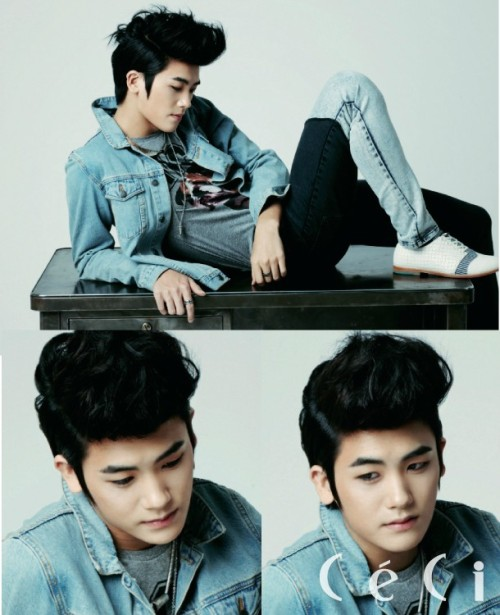 Park Hyung Sik (korean singer, actor, model - member of boy group ZE:A)  CéCi Korea See full photoshoot