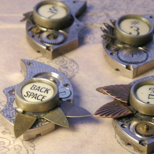 Vintage Typewriter Key Steampunk Jewellery